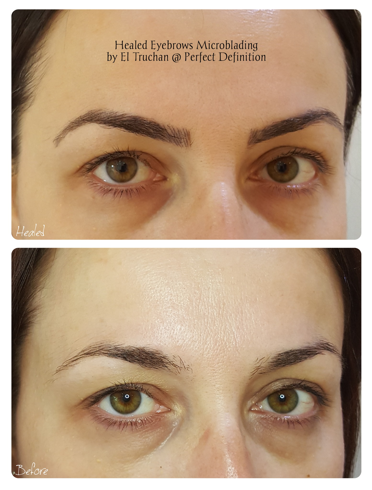 Healed Eyebrows Microblading by El Truch