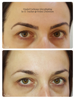 Healed Eyebrows Microblading by El Truch