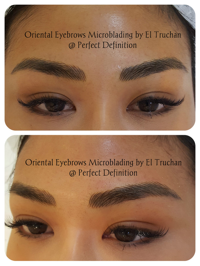 Oriental Eyebrows Microblading by El Truchan @ Perfect Definition in London.