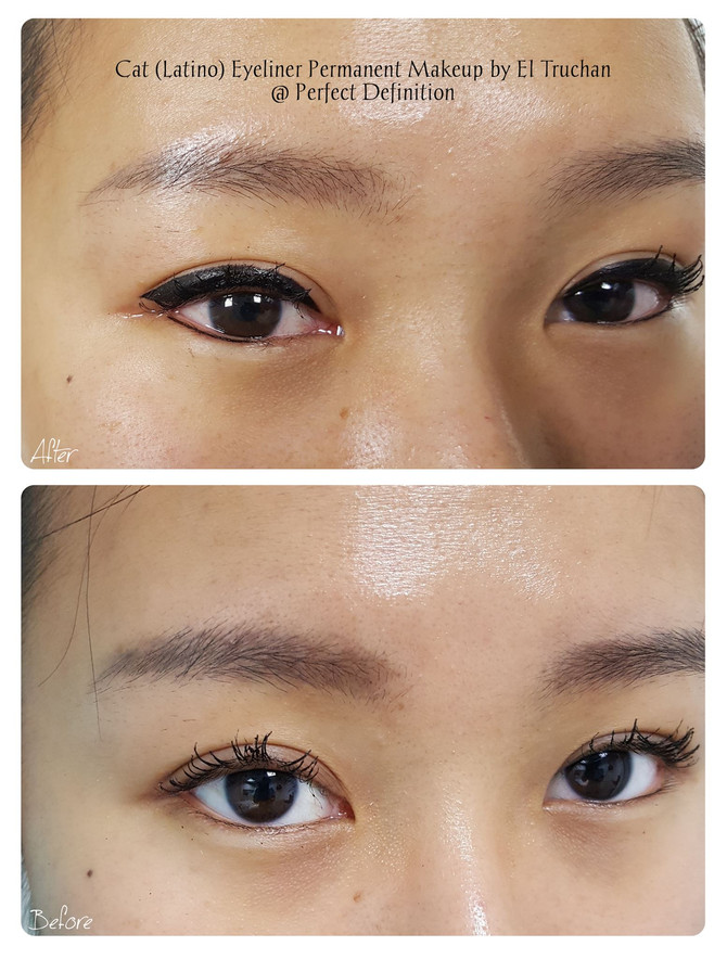 Cat (Latino) Eyeliner Permanent Makeup by El Truchan @ Perfect Definition