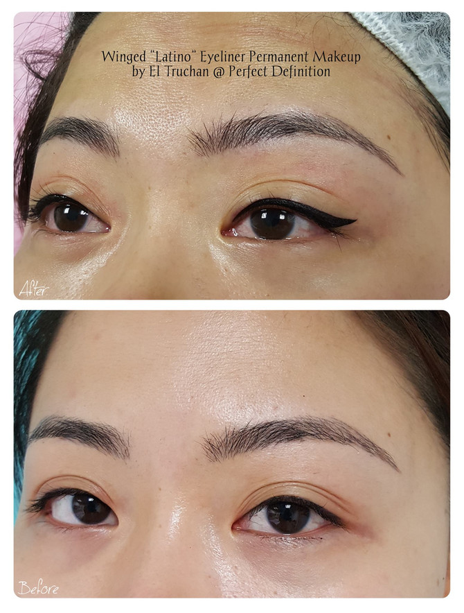 Winged Latino Eyeliner Permanent Makeup by El Truchan @ Perfect Definition