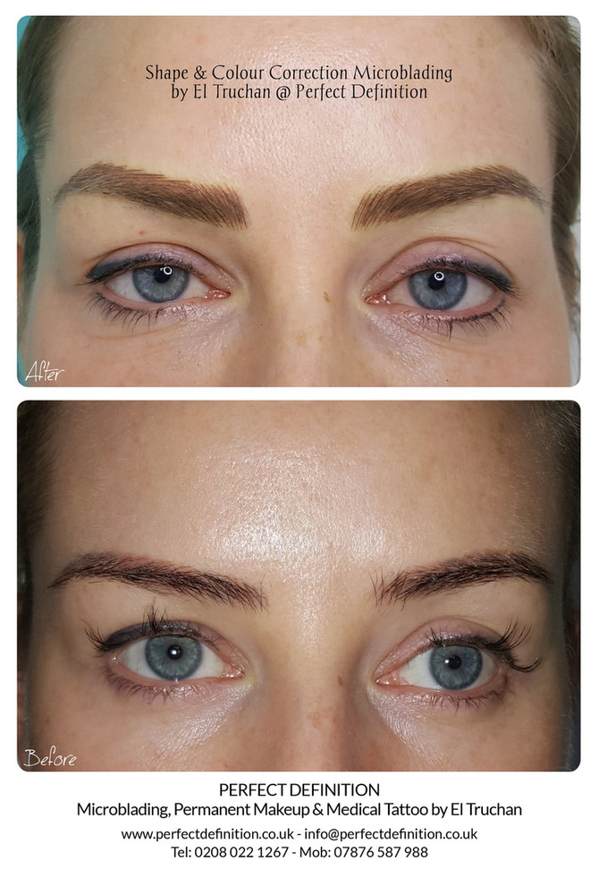 Shape & Colour Correction Microblading by El Truchan @ Perfect Definition
