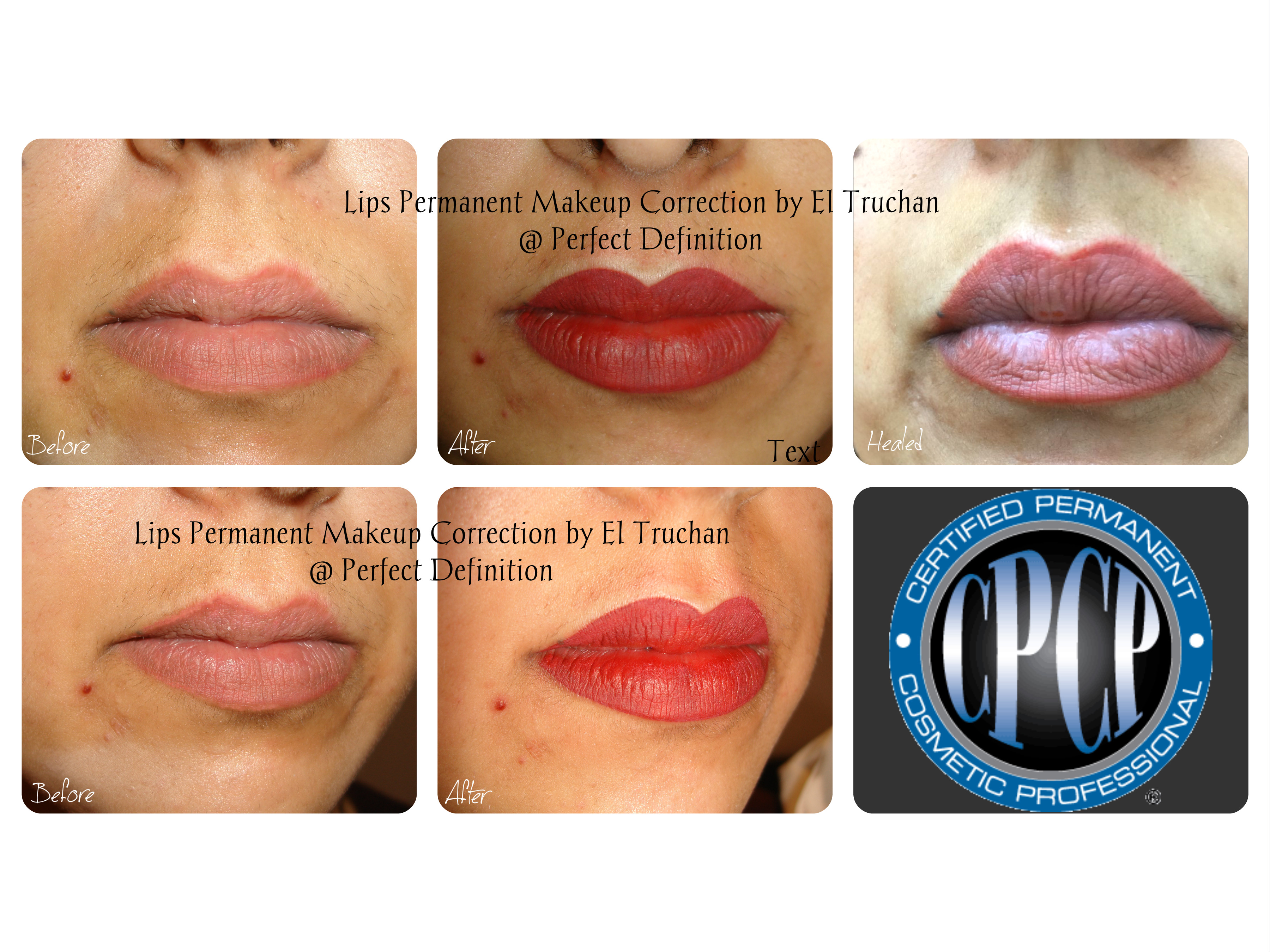 Correction of Lips permanent makeup by El Truchan _ Perfect Definition in London