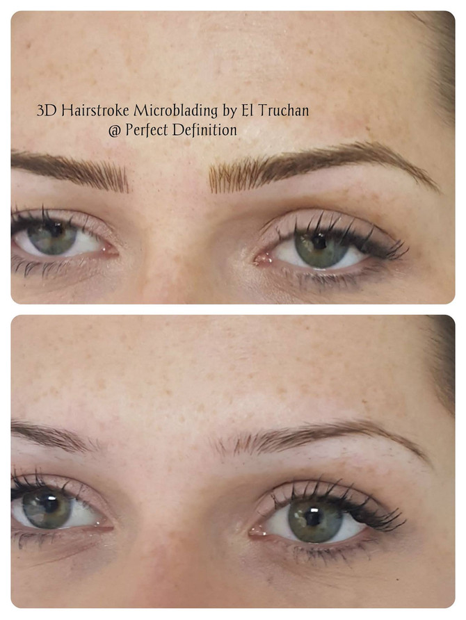 3D Hairstroke Microblading Eyebrows by El Truchan @ Perfect Definition