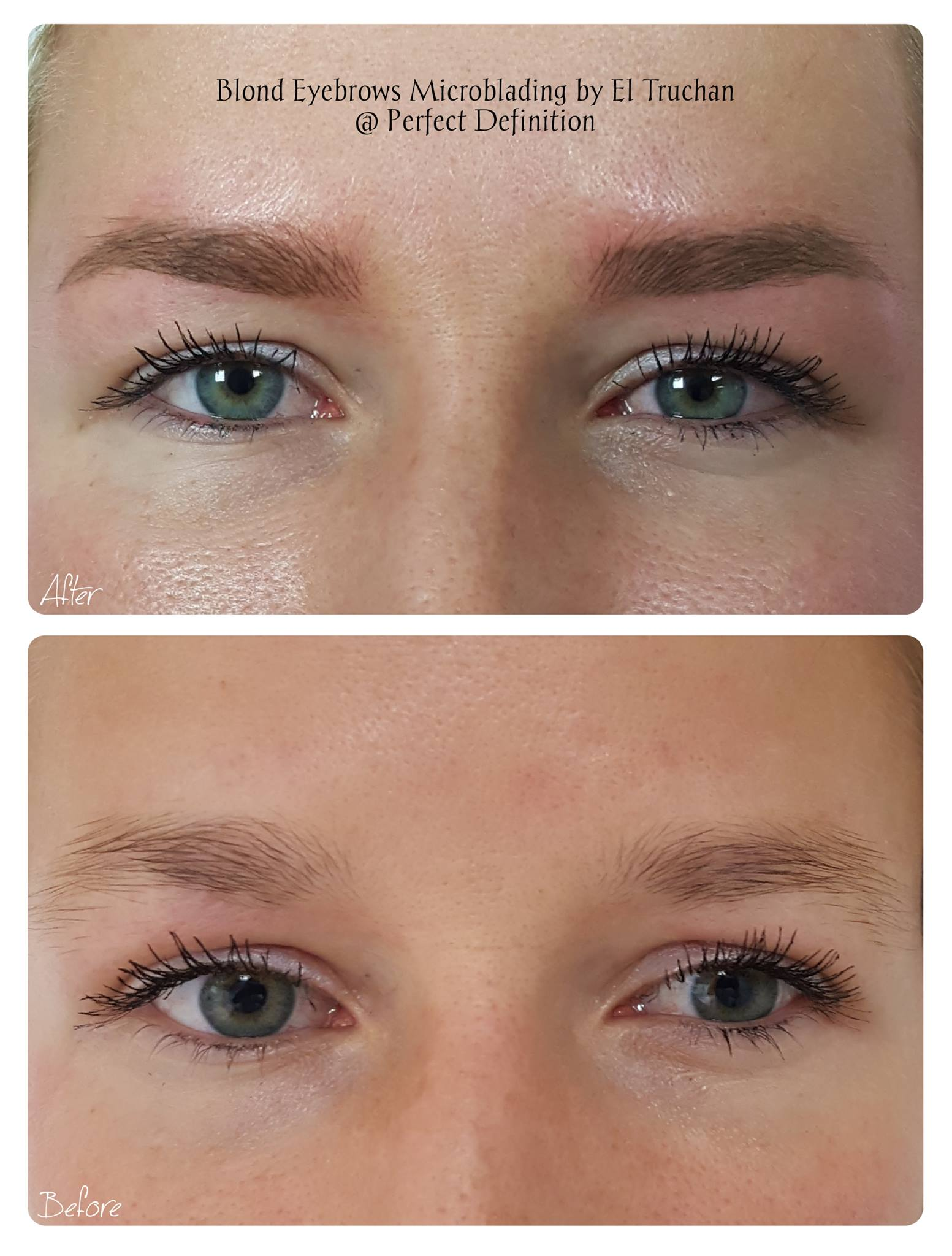 Blonde Eyebrows Microblading by El Truchan _ Perfect Definition