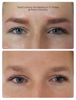 Blonde Eyebrows Microblading by El Truchan _ Perfect Definition