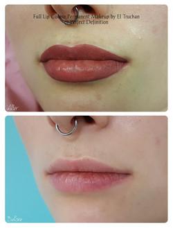 Full Lip Colour Permanent Makeup by El Truchan