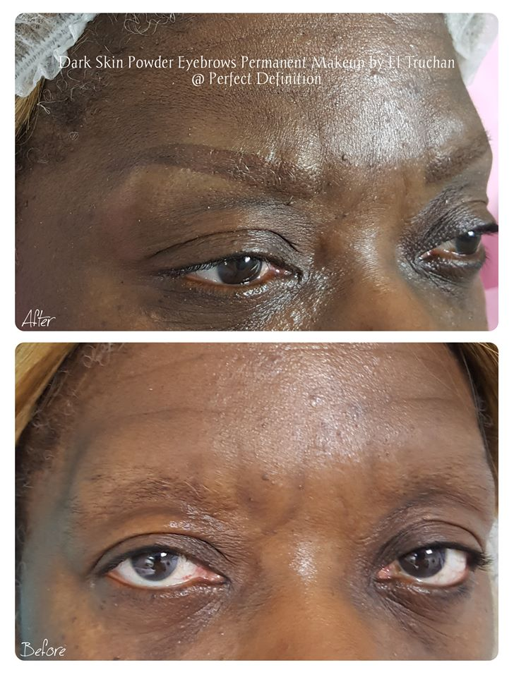 Dark Skin Powder Eyebrows Permanent Make