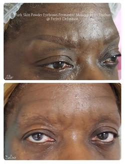 Dark Skin Powder Eyebrows Permanent Make