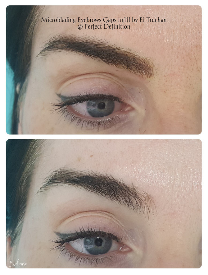 Gaps Infill - Microblading Eyebrows by El Truchan @ Perfect Definition