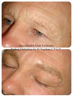 Male Eyebrows Microblading by El Tru