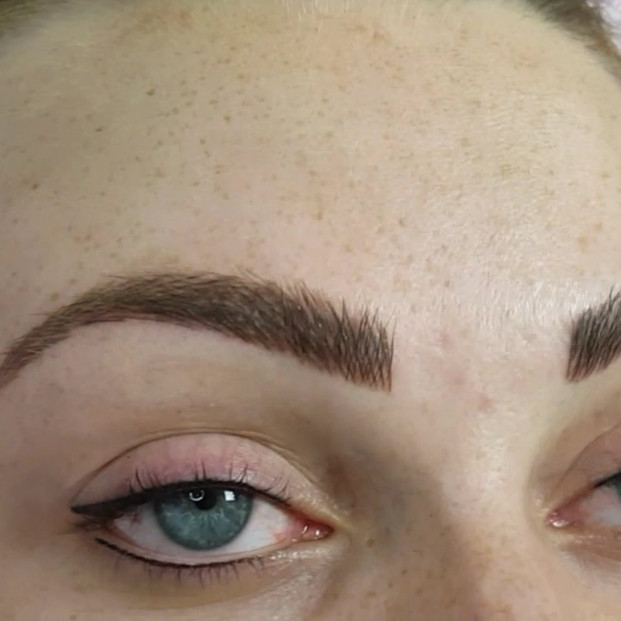 Healed (3rd year colour boost) Realism Microblading by El Truchan