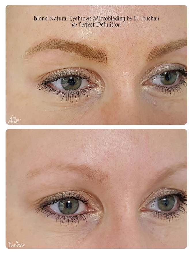 Eyebrows for Blondes: Microblading by El Truchan @ Perfect Definition