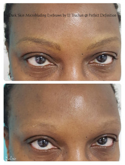 Dark Skin Microblading Eyebrows by El Tr