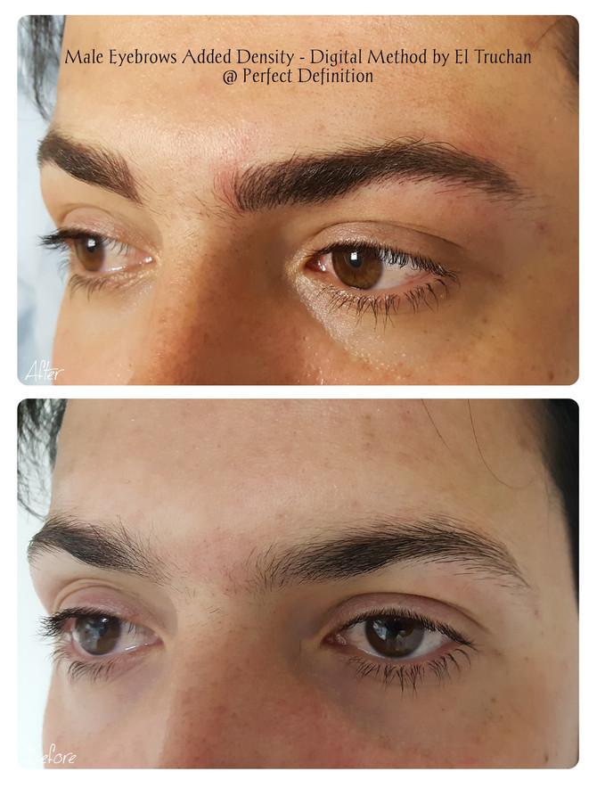 Male Eyebrows Added Density - Digital Method by El Truchan @ Perfect Definition