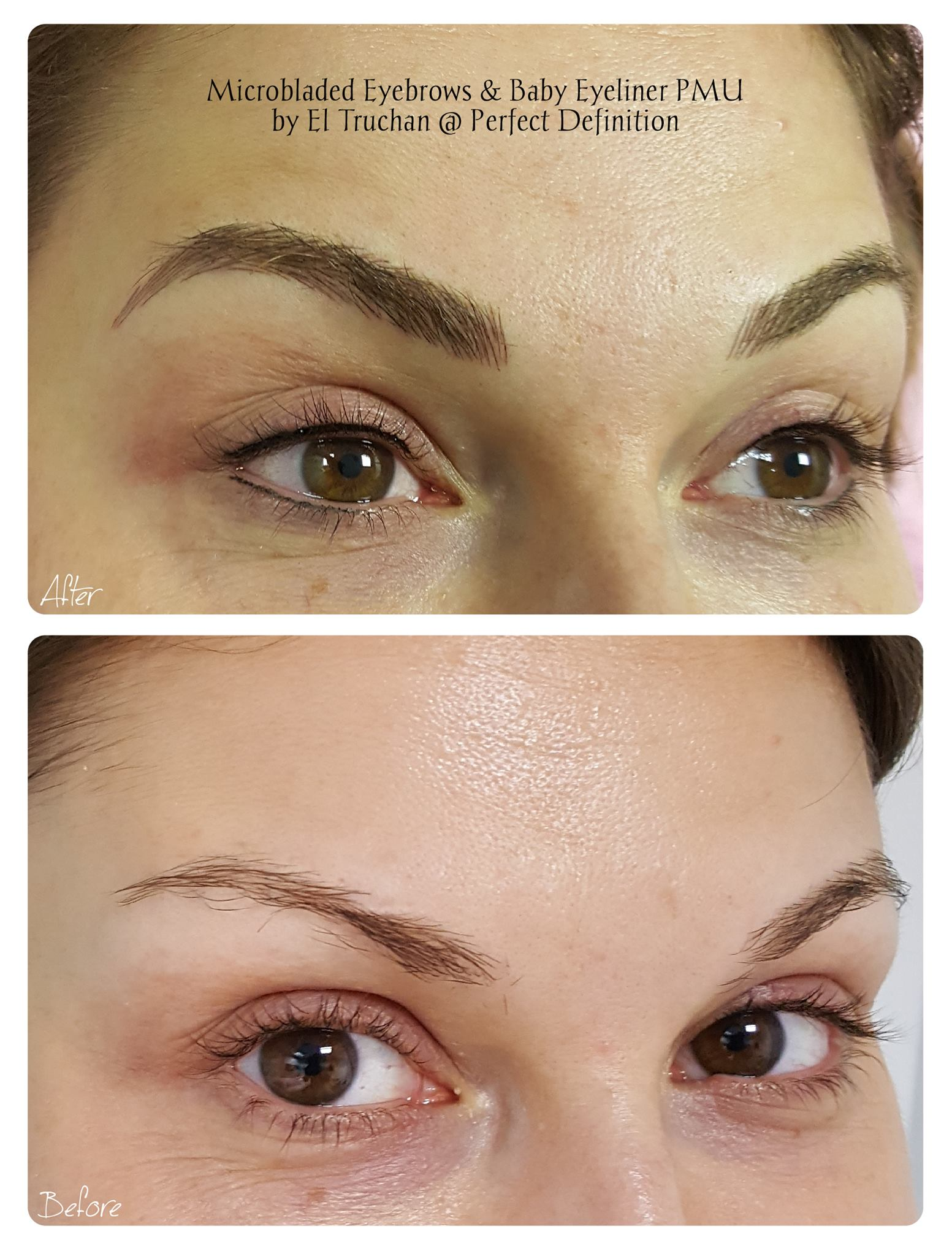 Microbladed Eyebrows & Baby Eyeliner PMU