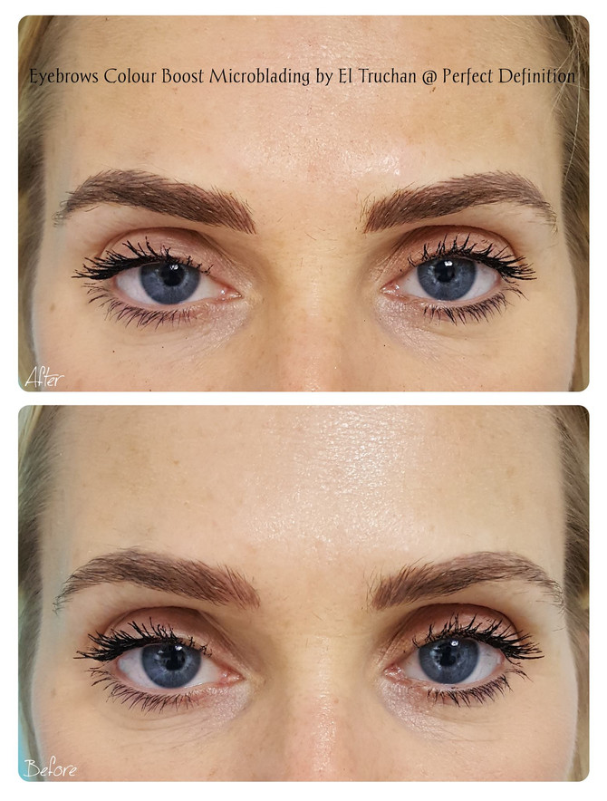 Eyebrows Colour Boost Microblading by El Truchan @ Perfect Definition