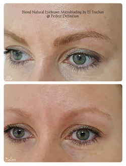 Blond & Soft Natural Eyebrows Microblading by El Truchan _ Perfect Definition 914