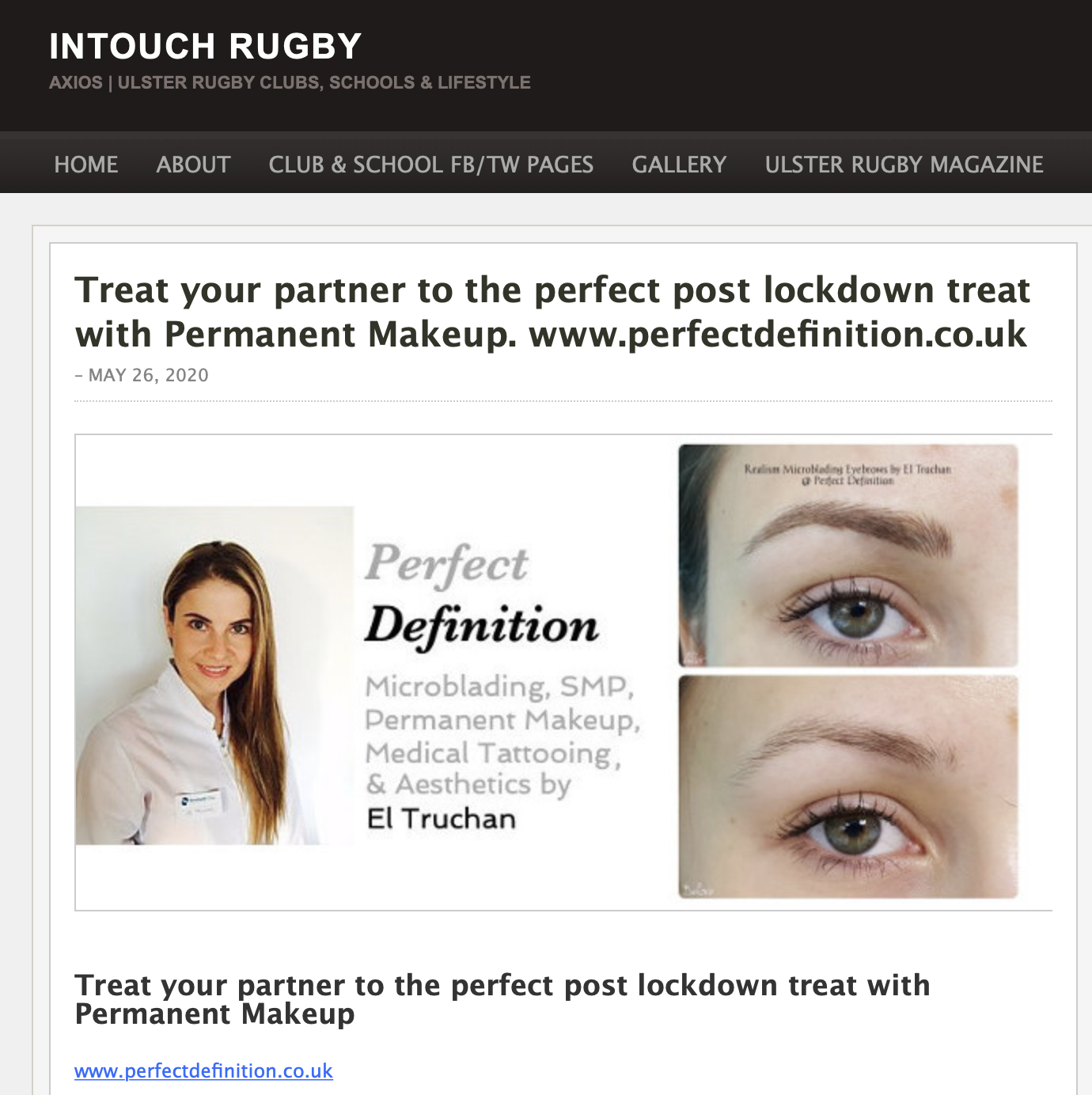Intouch Rugby Perfect Definition