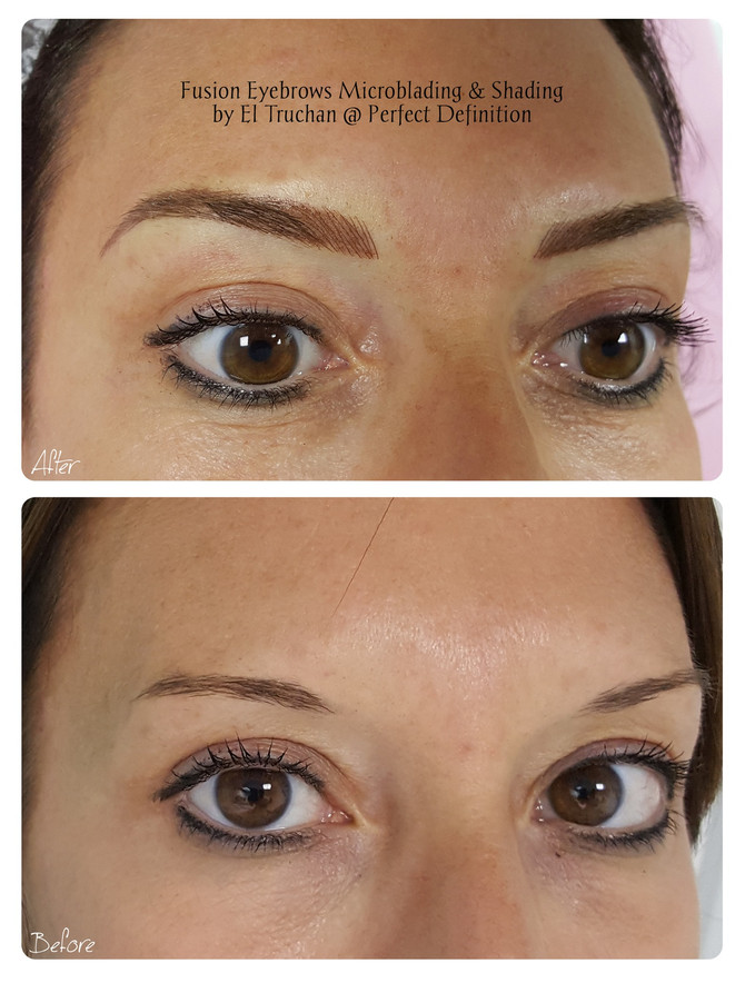 Fusion Eyebrows Microblading & Shading by El Truchan @ Perfect Definition