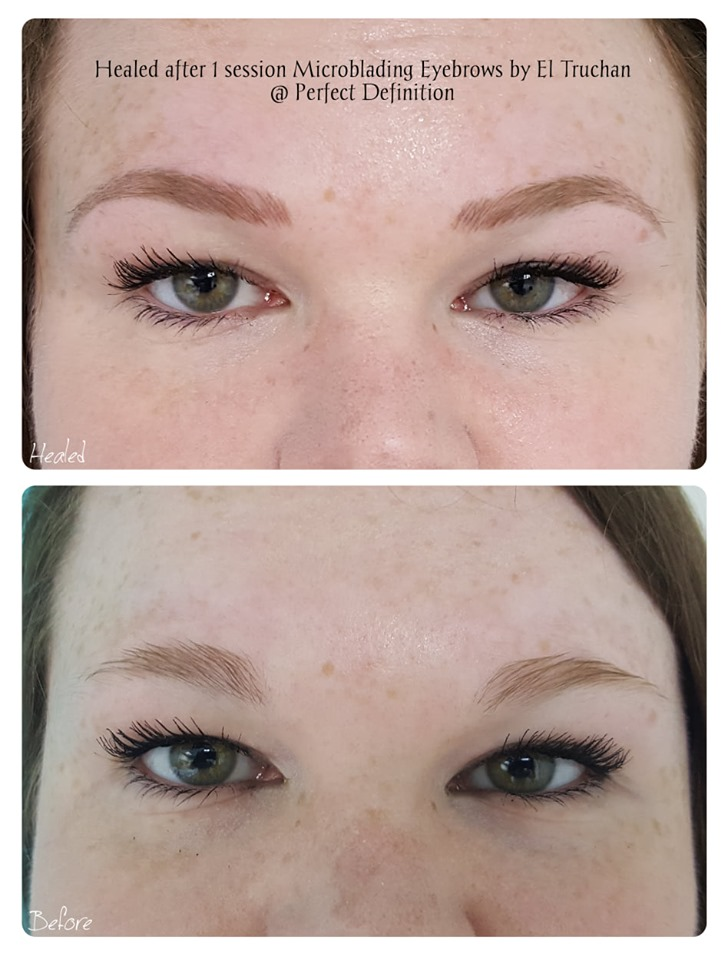 Healed after 1st session Microblading Ey