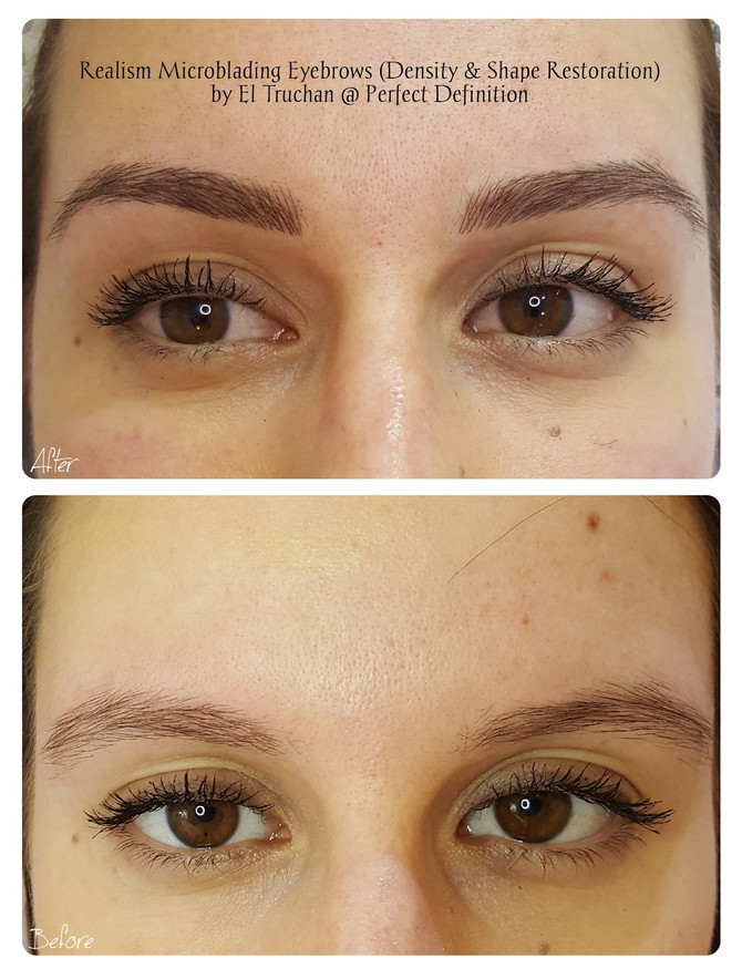 Realism Microblading Eyebrows (Density & Shape Restoration) by El Truchan @ Perfect Definition