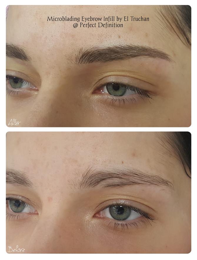 Microblading Eyebrows Infill