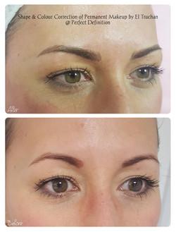 Shape & Colour Correct of Permanent Make
