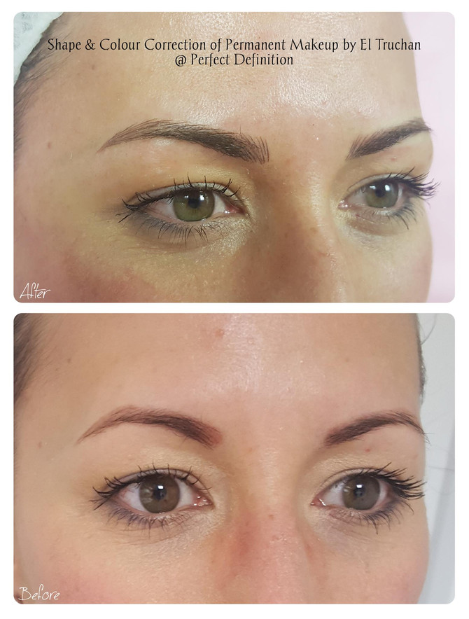 Shape & Colour Correction of Permanent Makeup by El Truchan @ Perfect Definition