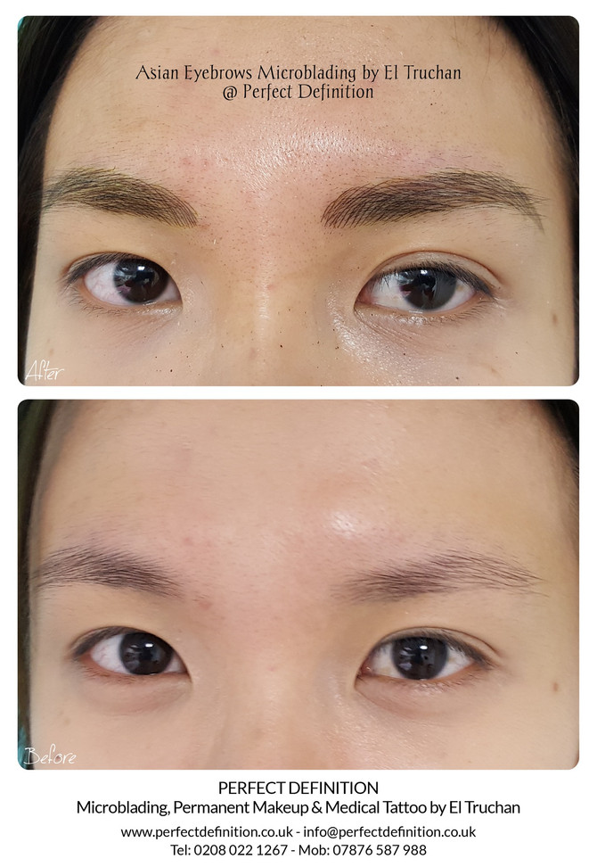 Asian Eyebrows Microblading by El Truchan @ Perfect Definition