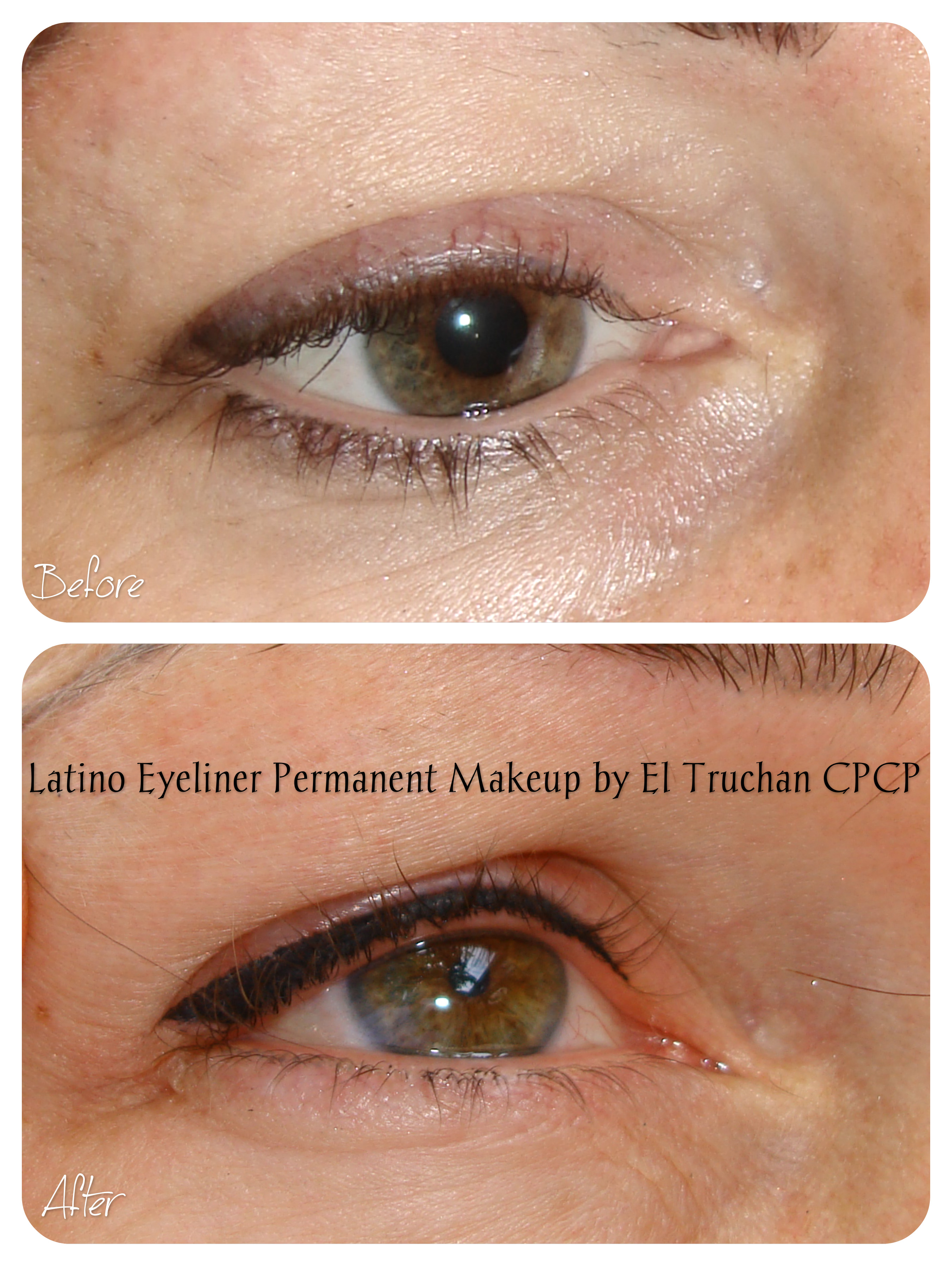 Latino Eyeliner Permanent makeup by El Truchan CPCP.1