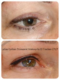 Latino Eyeliner Permanent makeup by El Truchan CPCP.1
