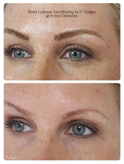 Microblading Blonde Eyebrows Density & S