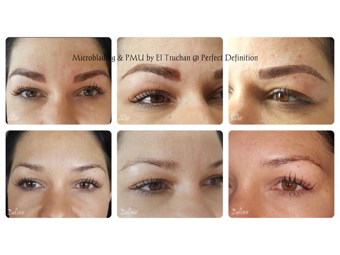 Natural Eyebrows thickness restoration - PMU & Microblading