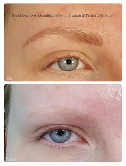 Blonde Eyebrows Microblading by El Truch