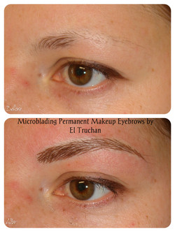 Microblading permanent makeup by El Truchan.