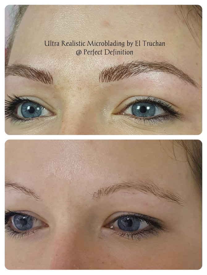 Ultra Realistic Eyebrow Microblading restoration by El Truchan @ Perfect Definition