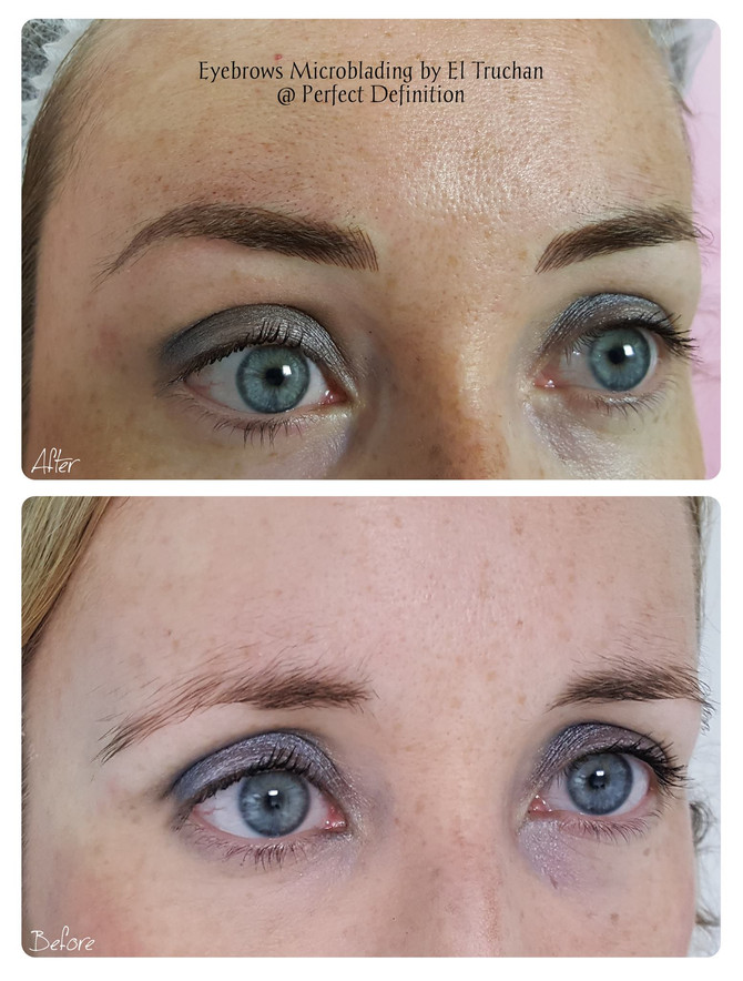 Microblading eyebrows shape correction by El Truchan @ Perfect Definition