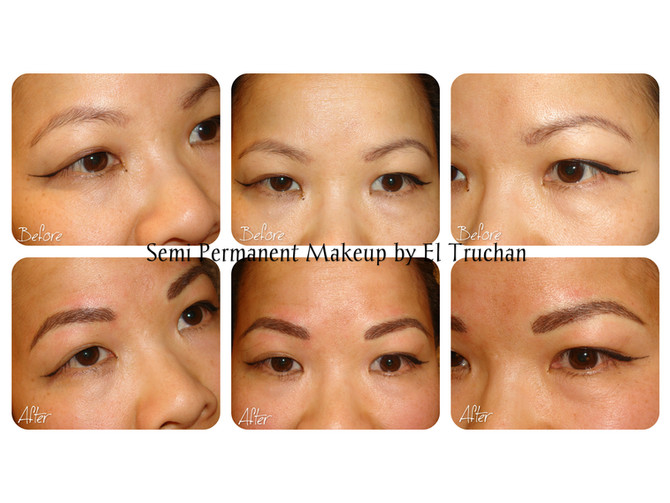Eyebrows Before - After Semi Permanent Makeup