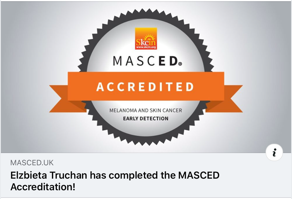 Masced Skin Cancer Recognition Accredita