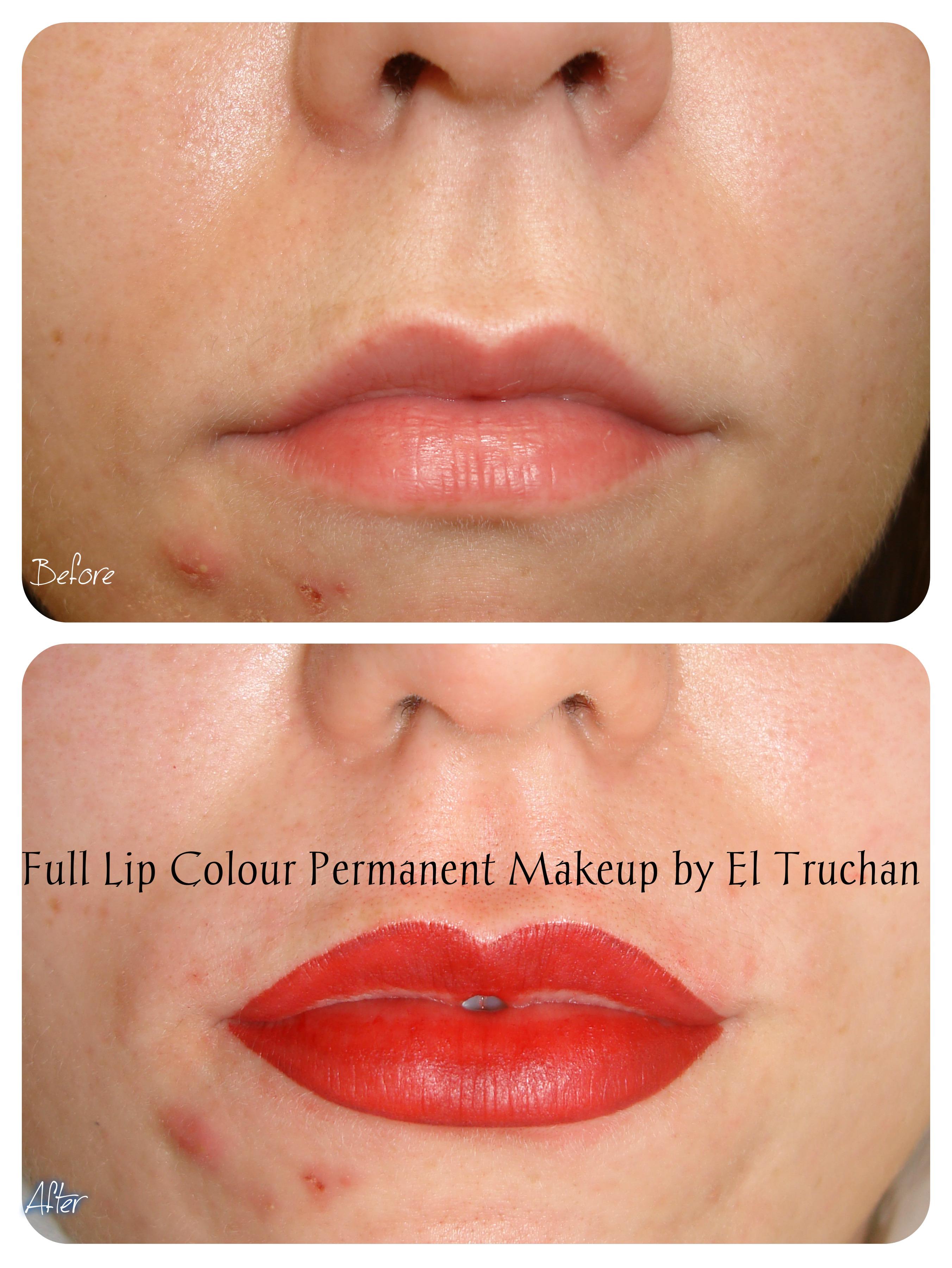 Permanent Makeup Full Lip Colour by El Truchan
