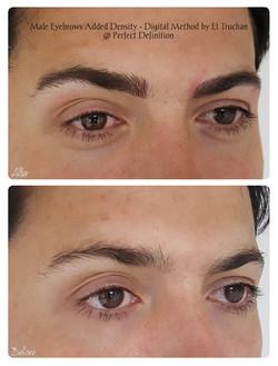 Male Eyebrows Added Density - Digital Me