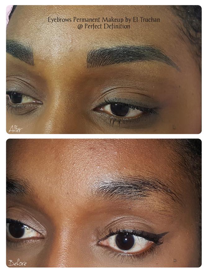 Dark Skin Eyebrows Permanent makeup by El Truchan @ Perfect Definition