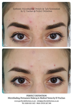 Eyebrows Microblading Density & Tails Re