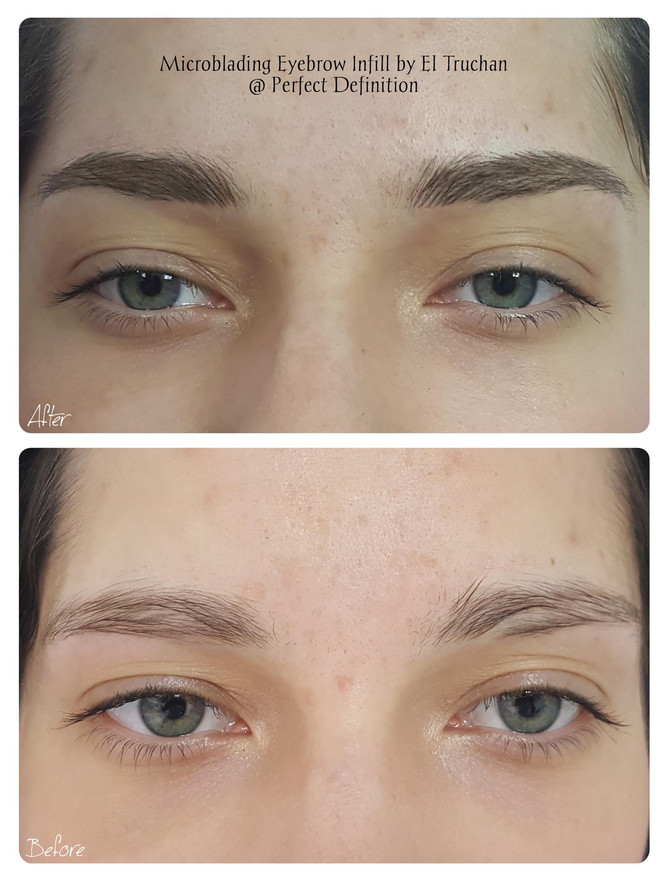 Microblading Eyebrows Infill by El Truchan @ Perfect Definition