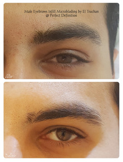 Male Eyebrows Microblading Infill by El