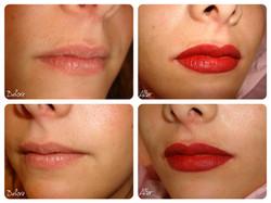 Semi Permanent Lips Tattoo by El Truchan