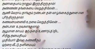 அன்பின் அருமை ……life quotes in tamil,parents love quote