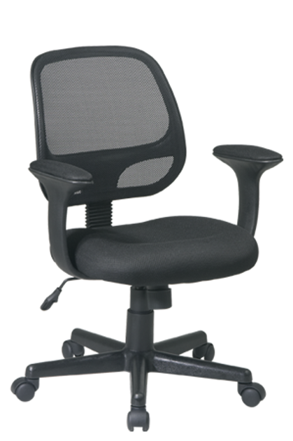 Screen Back Task Chair with Black Mesh Seat