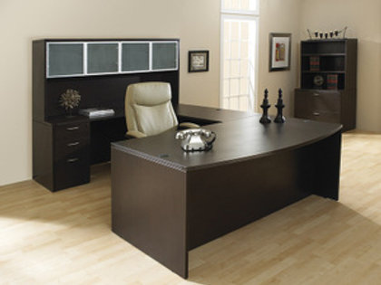 Espresso Colored U Shape Desk